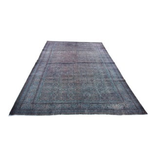 "Distressed Vintage Turkish Overdyed Rug - 6'5"" X 9'8"""