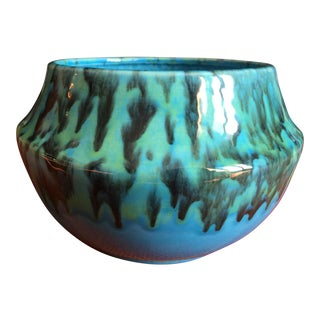 Blue Green Drip Glaze Ceramic Pot