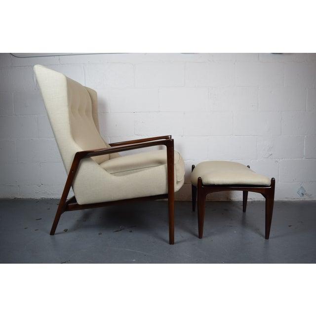 Kofod-Larsen Mid Century Lounge Chair & Ottoman - Image 4 of 6