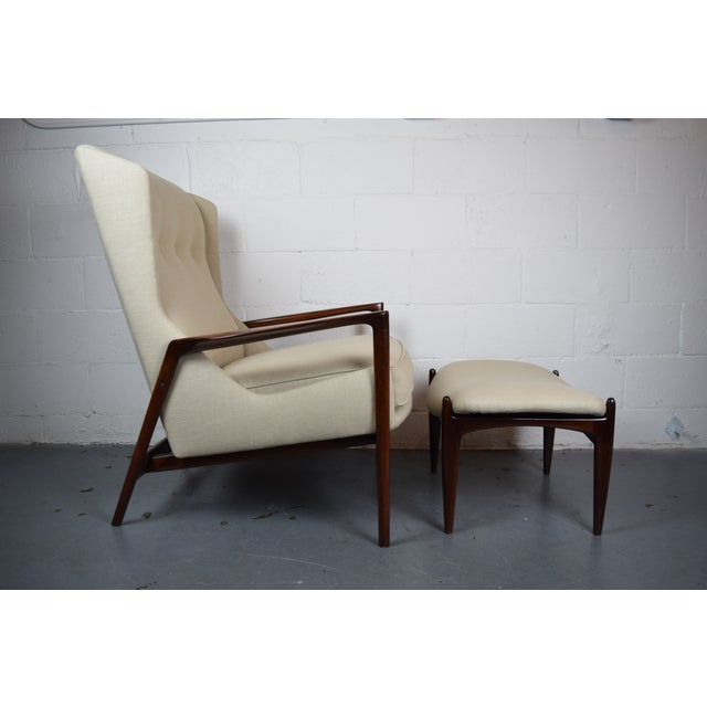 Image of Kofod-Larsen Mid Century Lounge Chair & Ottoman