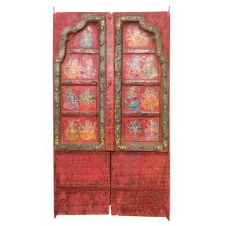 Folk Painted Mandawa Door