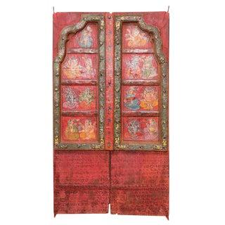 Folk Painted Mandawa Door