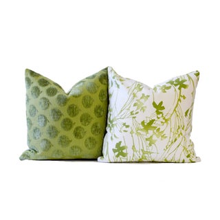 Designer Green Down Pillow