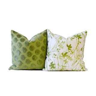 Designer Green Down Pillow