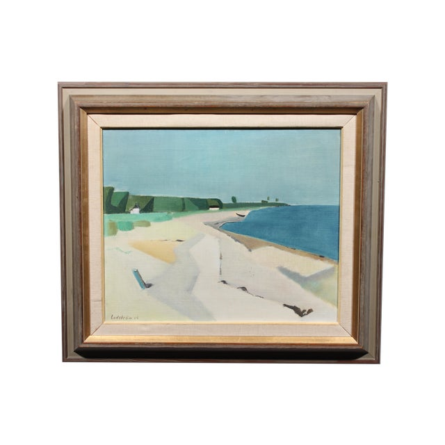 Image of Georg Lodstrom Painting - Low Tide