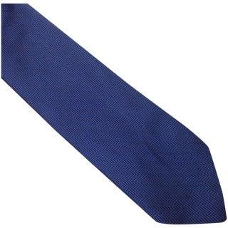 1960s Blue Silk Christian Dior Tie