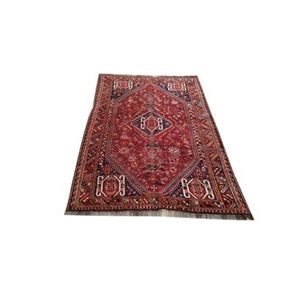 Traditional Shiraz Knotted Rug - 5′3″ × 8′