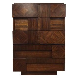 Tall Brutalist Paul Evans Style Dresser