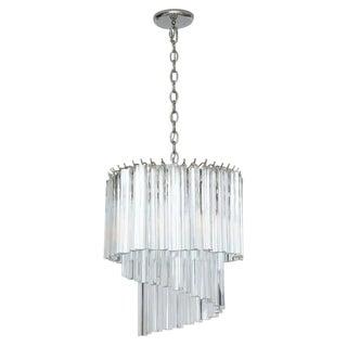 Venini Murano Glass Prism Chandelier