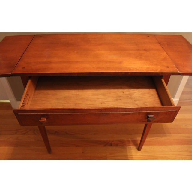 Trutype maple console table chairish for Table th width ignored