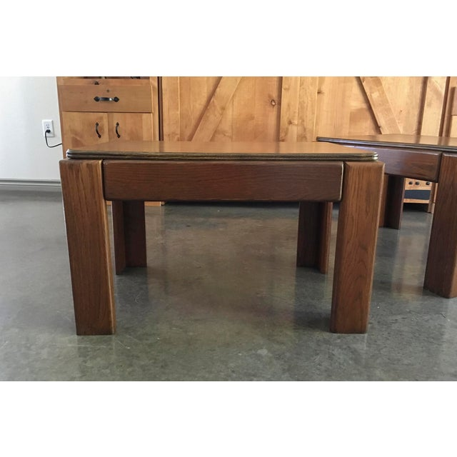 Mid-Century Parsons Style Side Tables - A Pair - Image 7 of 8
