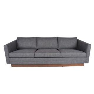 Mid-Century Navy Sofa