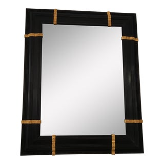 Gregorius Pineo Black & Gold Florentine Mirror Designer Mirror