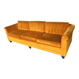 Mid-Century Marigold Velvet Sofa