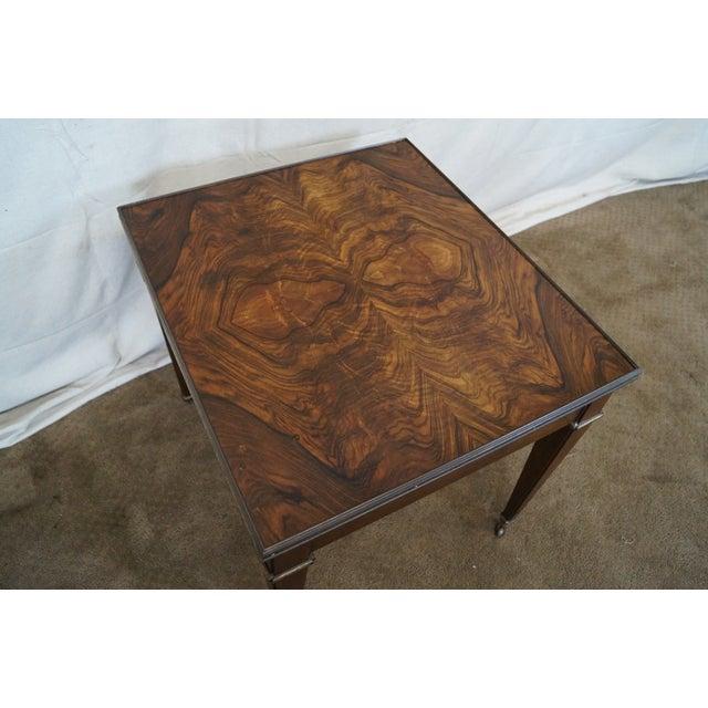 Baker Vintage Walnut Regency Directoire End Table - Image 7 of 10
