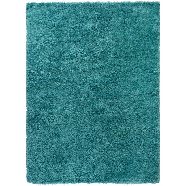 Turquoise Shag Rug - 8′8″ × 11′9″ - Image 2 of 2