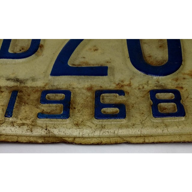 Image of Rustic Mid Century Indiana License Plate 1968