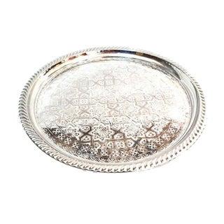 Moroccan Silver Tray