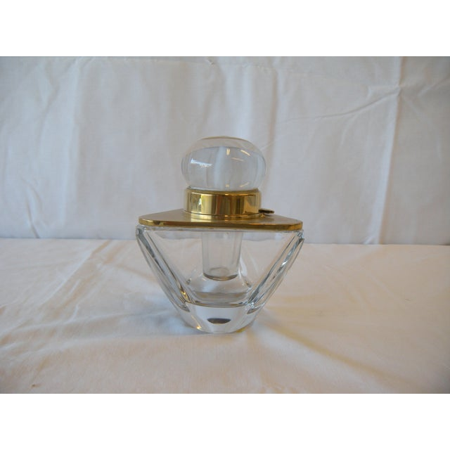 Image of Antique Cut Crystal Inkwell
