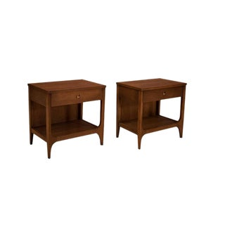 Broyhill Brasilia Walnut Nighstands - A Pair