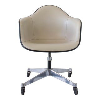 Ray & Charles Eames Wheeled Shell Chair with Vinyl Cover