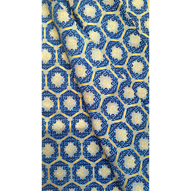 Robert Kaufman Blue Gold Imperial Fabric - 3.5 Yds - Image 2 of 4