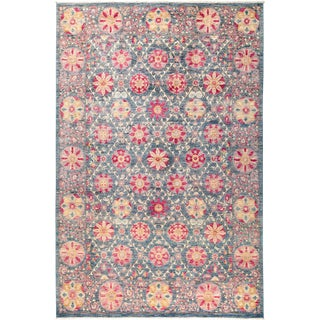 "Suzani Hand Knotted Area Rug - 6'2"" X 9'4"""