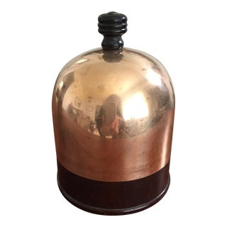 Copper Dome & Bakelite Cigarette & Match Dispenser