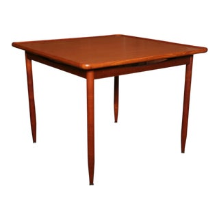 Fine Modern Danish Bowl Edge Teak & Rosewood Side Table