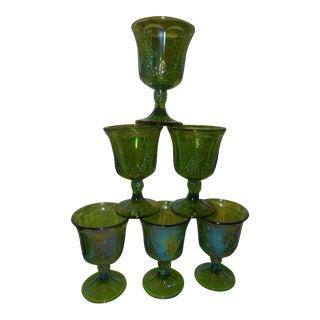 Carnival Green Harvest Grape Goblets - Set of 6