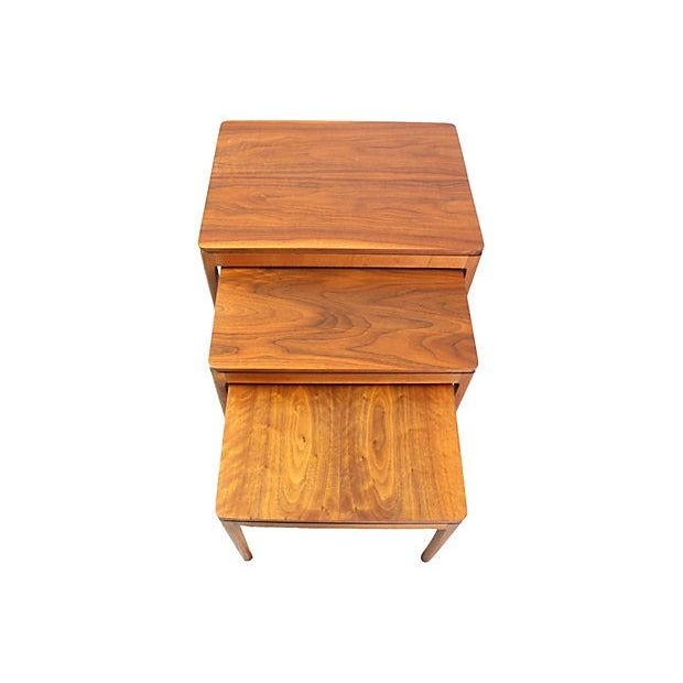 Kipp Stewart Walnut Nesting Tables - Set of 3 - Image 4 of 5
