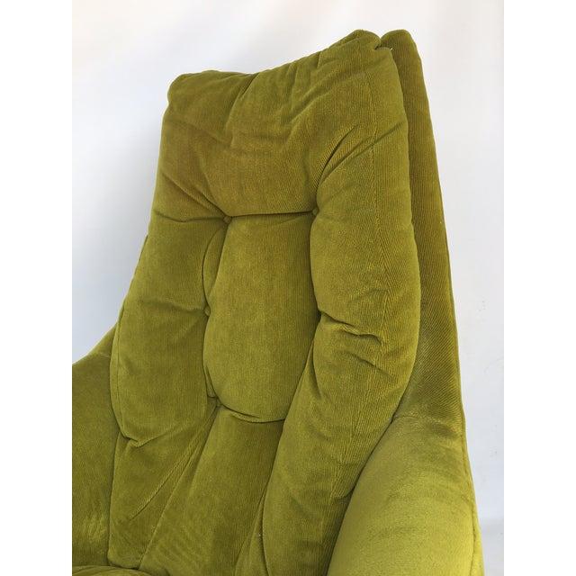 Milo Baughman Thayer Coggin Plush Mod Swivel Lounge Chair - Image 5 of 7