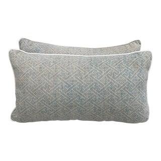 Faded Hmong Woven Pillows - a Pair