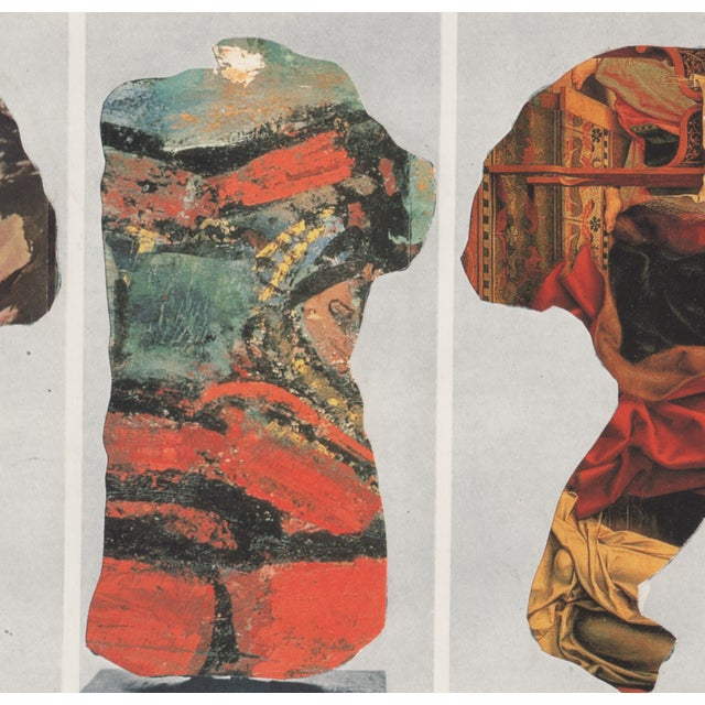 Ray Beldner Figural Triptych Collage - Image 4 of 5