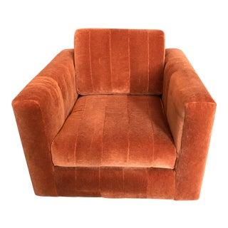 Contemporary Mohair Club Chair