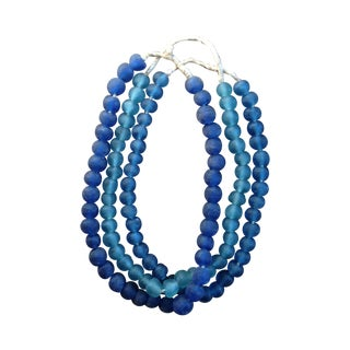 Decorative Large Blue Glass Beads