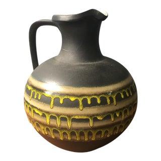 Mid-Century Modern Drip Glaze Pitcher Vase