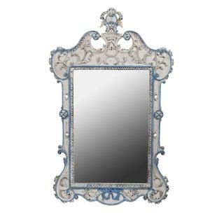 Blue & White French-Style Mirror