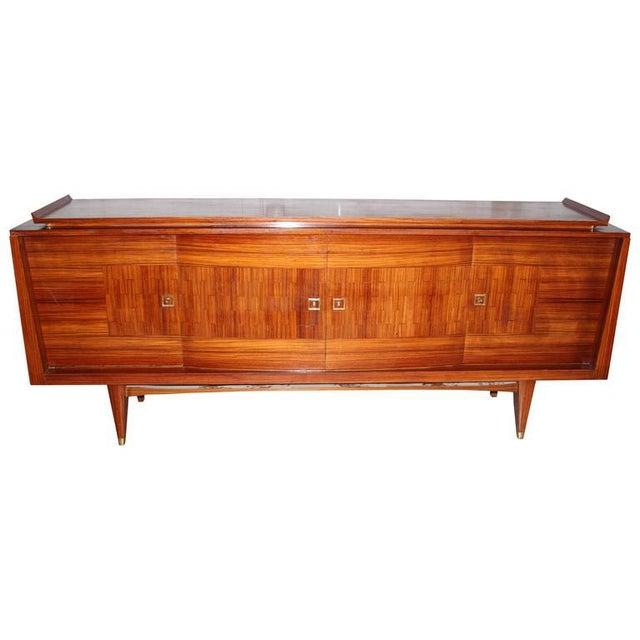 french art deco rosewood palisander sideboard chairish. Black Bedroom Furniture Sets. Home Design Ideas