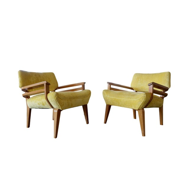 Paul Laszlo for Brown Saltman Lounge Chairs - Pair - Image 2 of 6