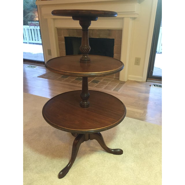 3-Tiered Butler Tripod Table - Image 7 of 8