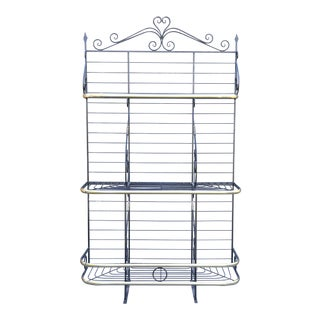 French Iron & Brass Baker's Rack