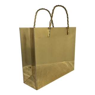 Brass Shopping Bag Magazine Rack