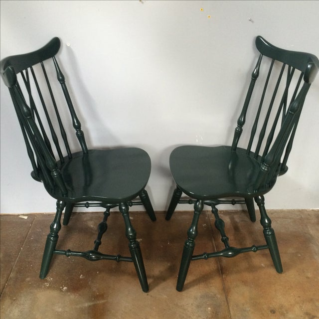 Windsor Lacquer Side Chairs - A Pair - Image 3 of 8