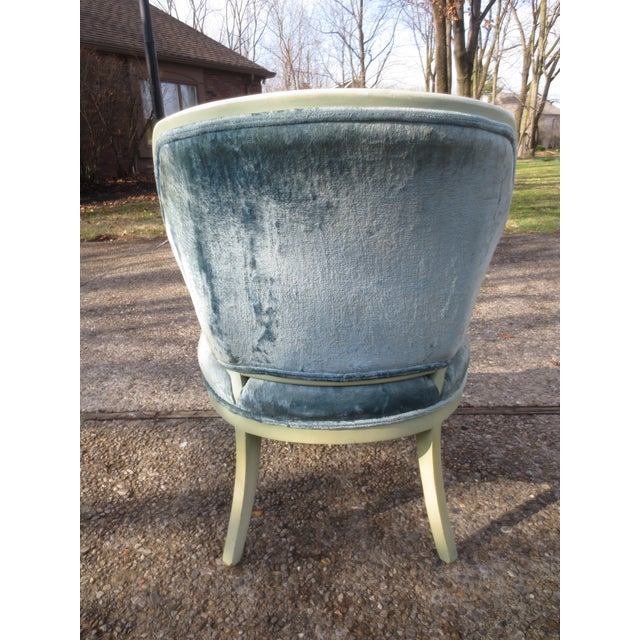 Vintage 1950s Blue Velvet French Chairs - A Pair - Image 5 of 7