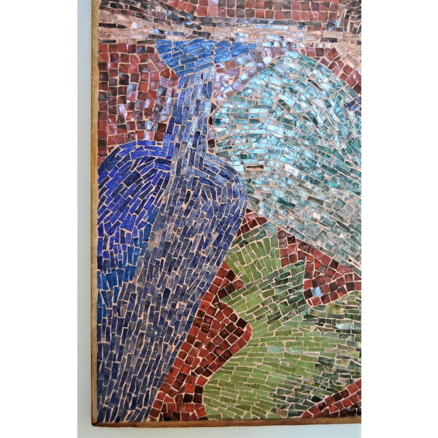 Cubist Glass Mosaic Wall Sculpture - Image 5 of 11