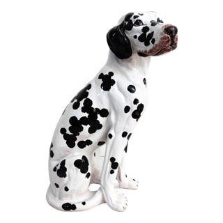 Mid-Century Modern Italian Dalmatian Dog Statue