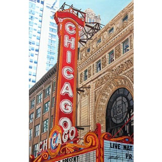 """Chicago Theatre Marquee"" Giclee Print of the Painting"