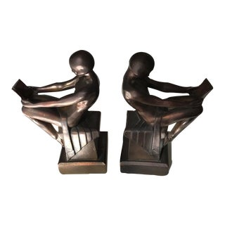 Art Deco Nude Bookends By Max Le Verrier - A Pair
