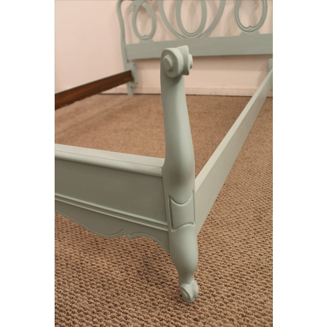 French Country Blue Full Bed Frame Chairish